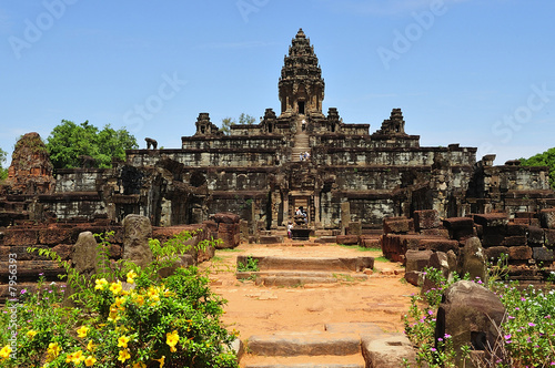 Cambodia Angkor Roluos  View of the Bakong temple