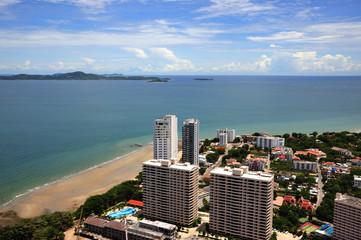 Thailand view of Jomtien and Pattaya bay