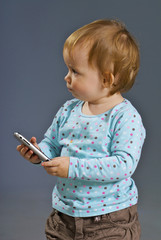 small girl with the cell phone