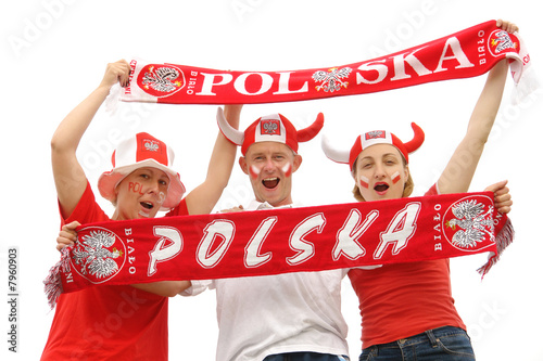 Zdjęcia na płótnie, fototapety, obrazy : Polish soccer fans