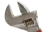 adjustable wrench close up poster
