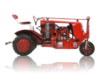 Old Antique Red Tractor