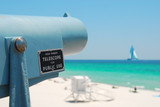 Telescope at Beach poster