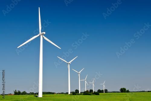 Leinwanddruck Bild Windräder