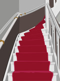 red carpet staircase poster