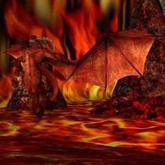 Teufel mit Hintergrund