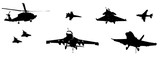 Military Aircraft Silhouettes