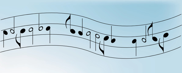 Background - Music notes. Seamless background with music notes
