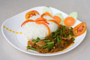 Thai spicy curry food
