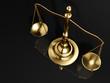 Golden brass scale