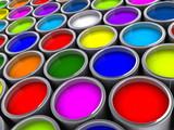 Naklejka Paint cans 2