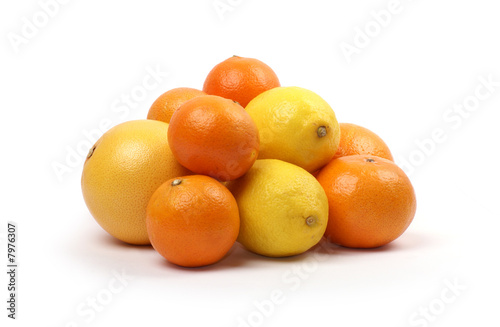 Citruses isolated on white