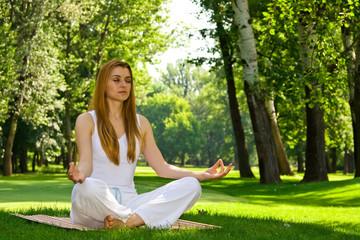 yoga outdoor pose