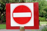 sign. no entry poster