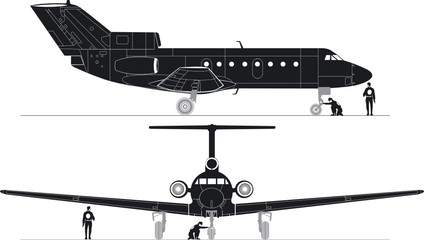 Vector hi-detailed jet silhouettes