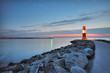 Fototapete Sonnenuntergang - Rostock - Hafen