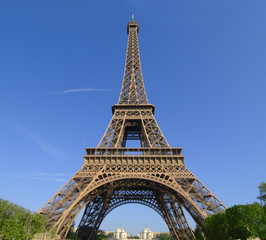 Wide angle on the Eiffel Tower