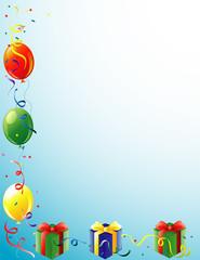 Balloons and Present border
