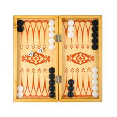 Retro backgammon game