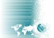 Global communication design, vector illustration layers file.