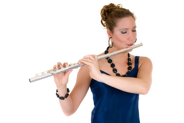 Attractive flautist