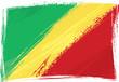 Grunge Congo flag