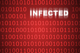 Infected Code Abstract Background poster