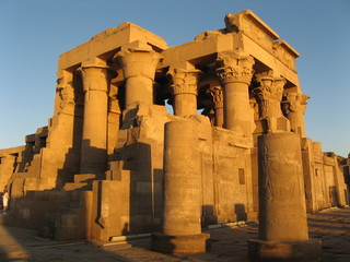 Sunset at Kom Ombo Temple, Egypt