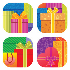 Gift boxes background
