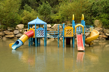 Colorful water playground