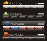 Fototapety Website button bars template
