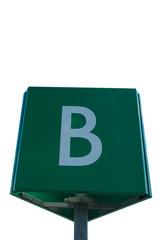 Letter B sign