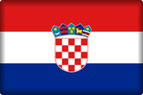 Croatian Flag (button) poster