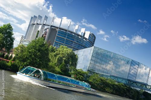 Leinwanddruck Bild Parlement européen à Strasbourg