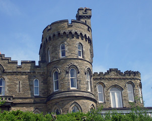 Historic castle shaped house