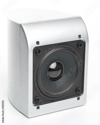 Loudspeakers on a white