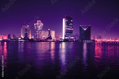 Fotobehang Dubai Dubai at night, united arab emirates