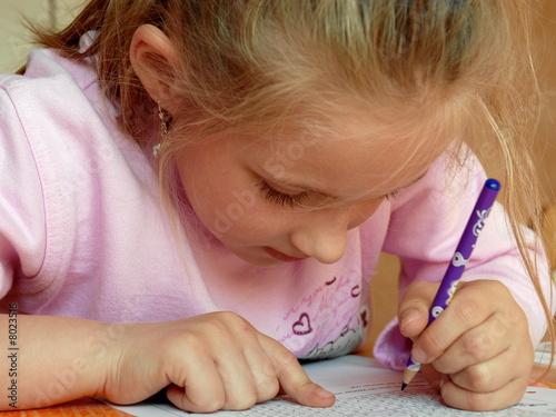 Leinwanddruck Bild Hausaufgaben