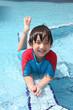 Boy at swimming pool