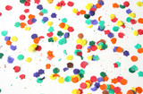 Confetti on a white background poster