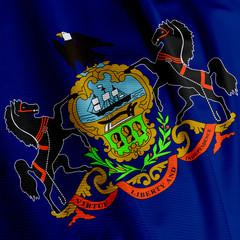 Pennsylvania Flag Closeup