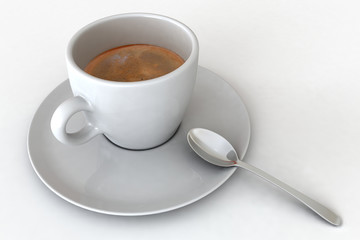 Un tazzina di caffè