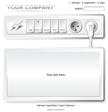 Website white electric layout template poster