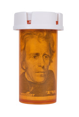 Prescription bottle with Money