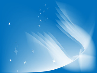 Abstract background and wings