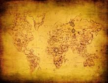 oude kaart van de wereld