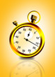 countdown timer / stop watch in yellow background