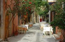 Kreta Retimno ruelle restauracja et