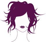 Fototapety tête décoiffée violette
