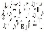 Fototapety music notes